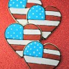 Patriotic Heart Cookies
