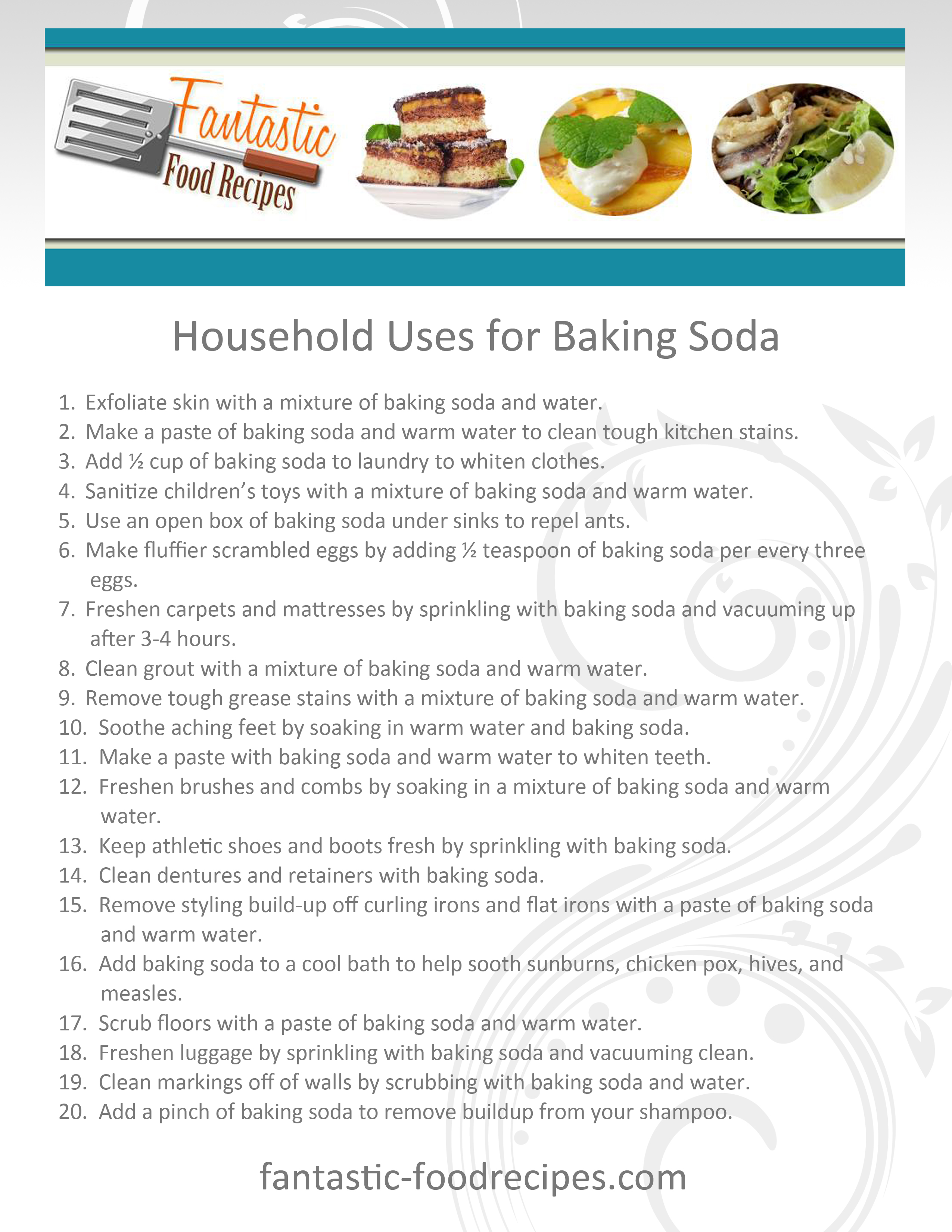 Household Uses for Baking Soda