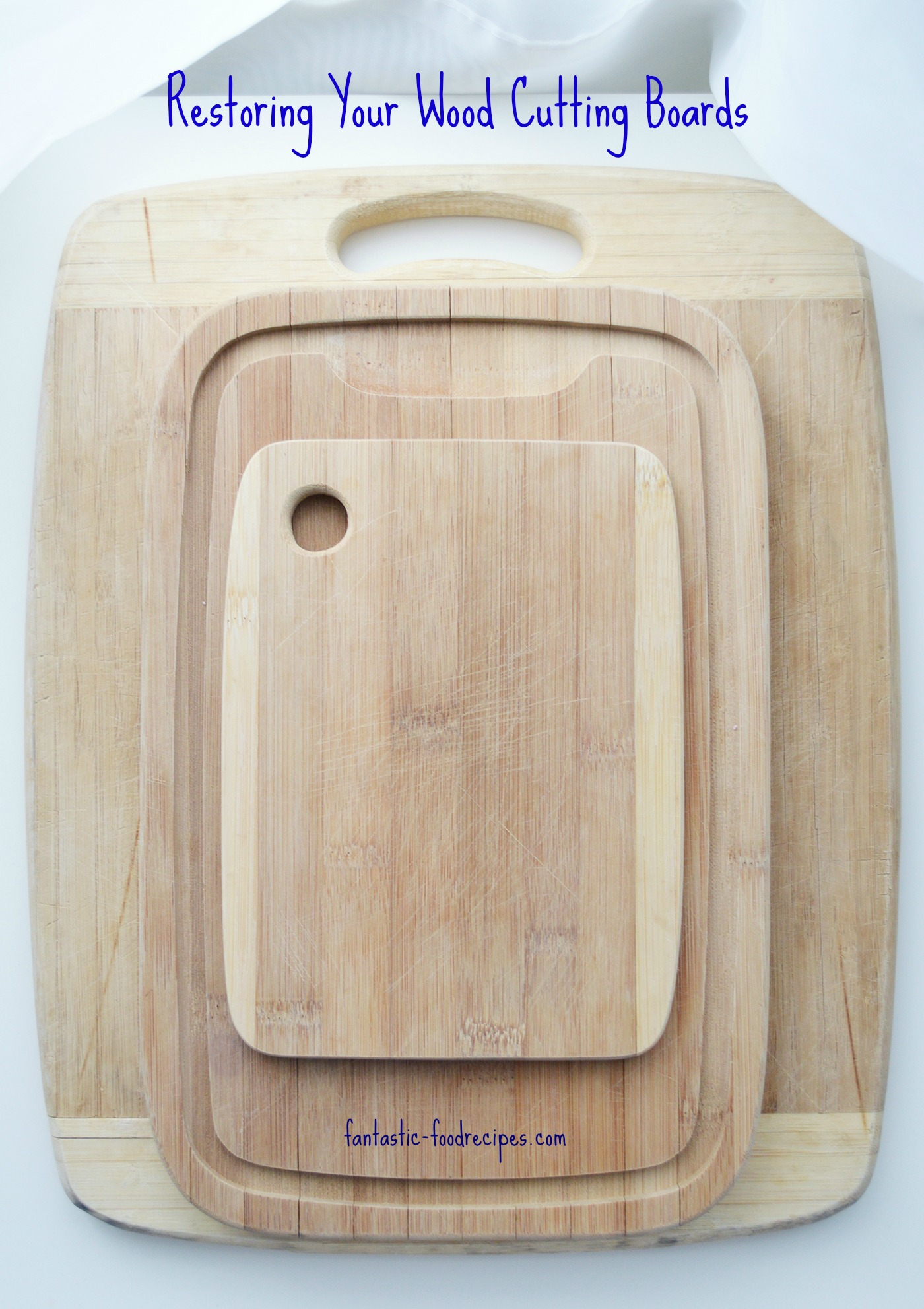 Restoring Wood Cutting Boards 1