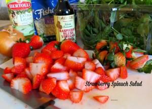 Strawberry Spinach Salad Preparation