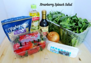 Strawberry Spinach Salad Ingredients