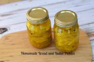 Homemade Bread and Butter Pickles 2