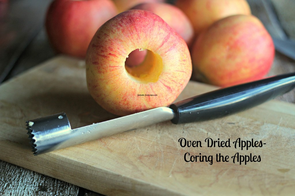 Oven Dried Apple Rings-Coring the Apples