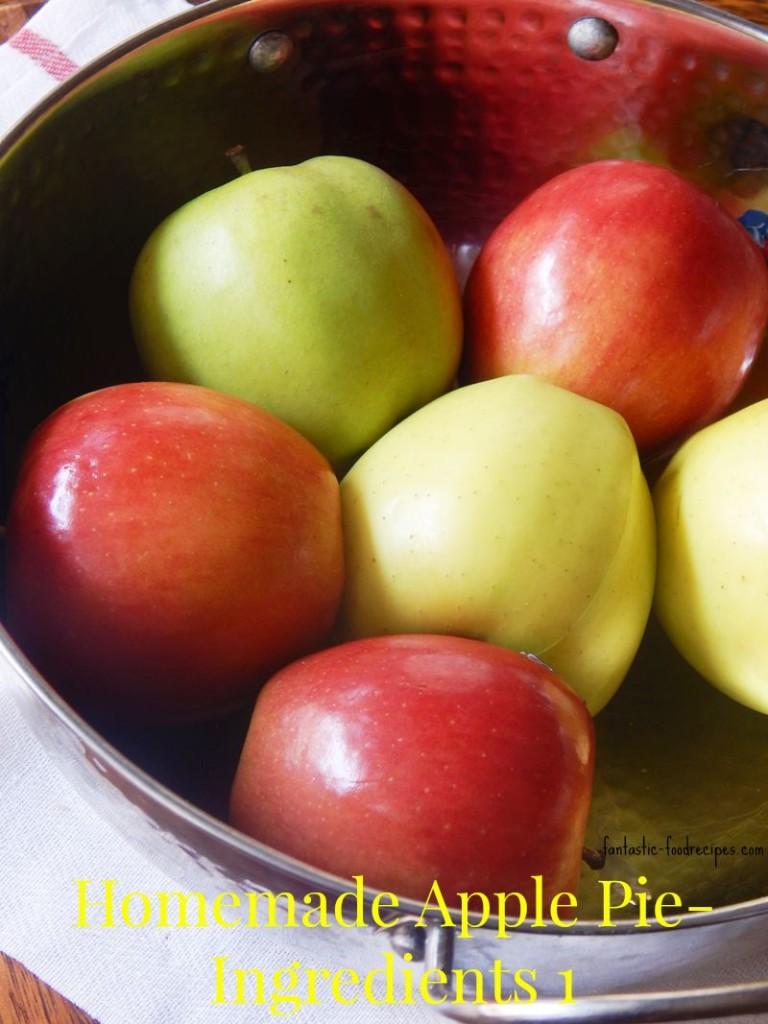 Homemade Apple Pie-Ingredients 1