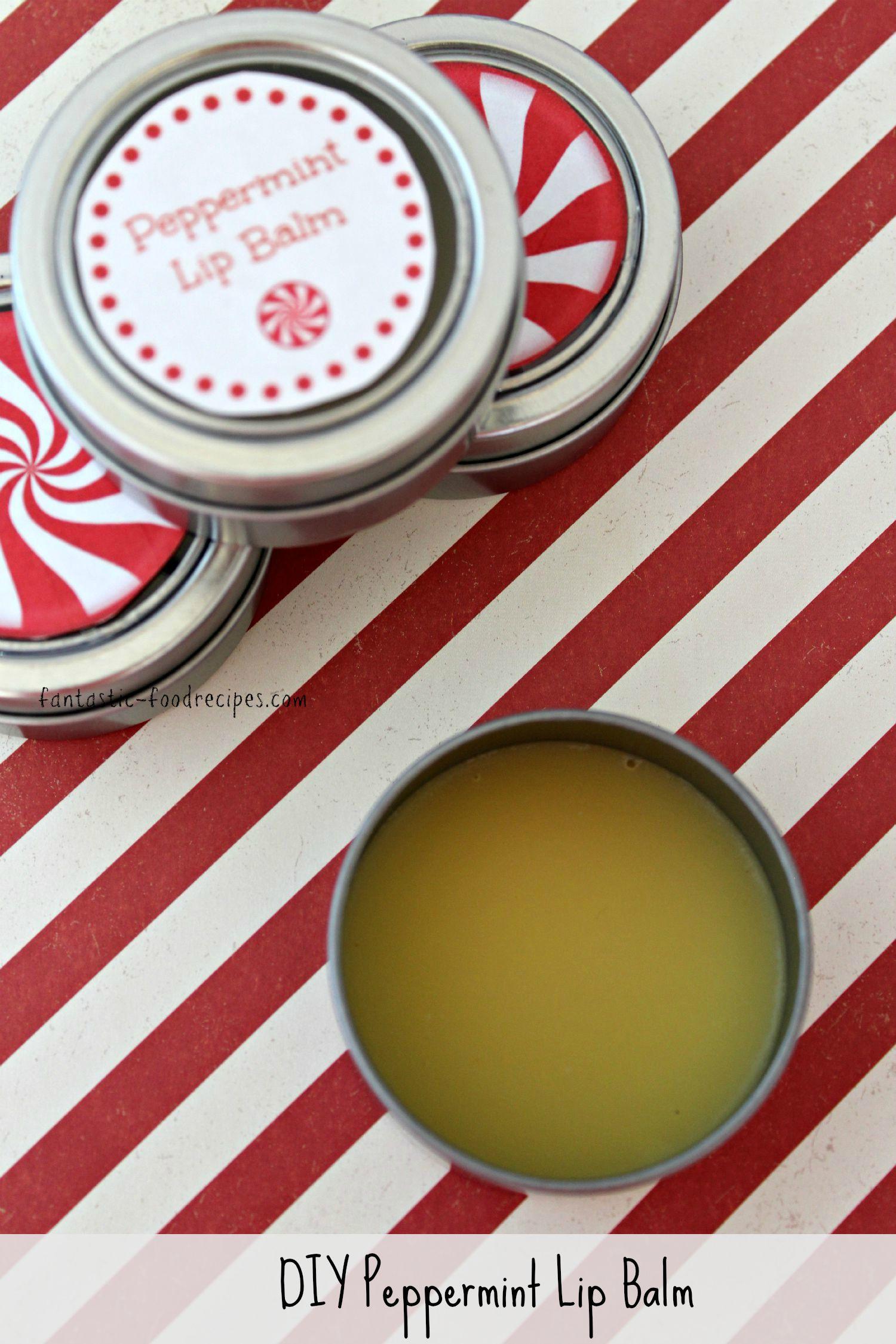 DIY Homemade Peppermint Lip Balm