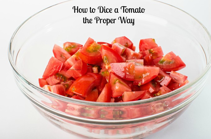 how to dice a tomato