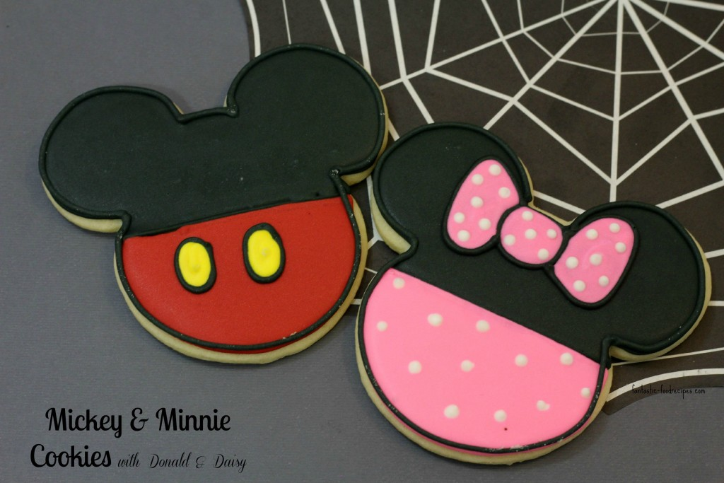 Mickey & Minnie Cookies with Donald & Daisy.