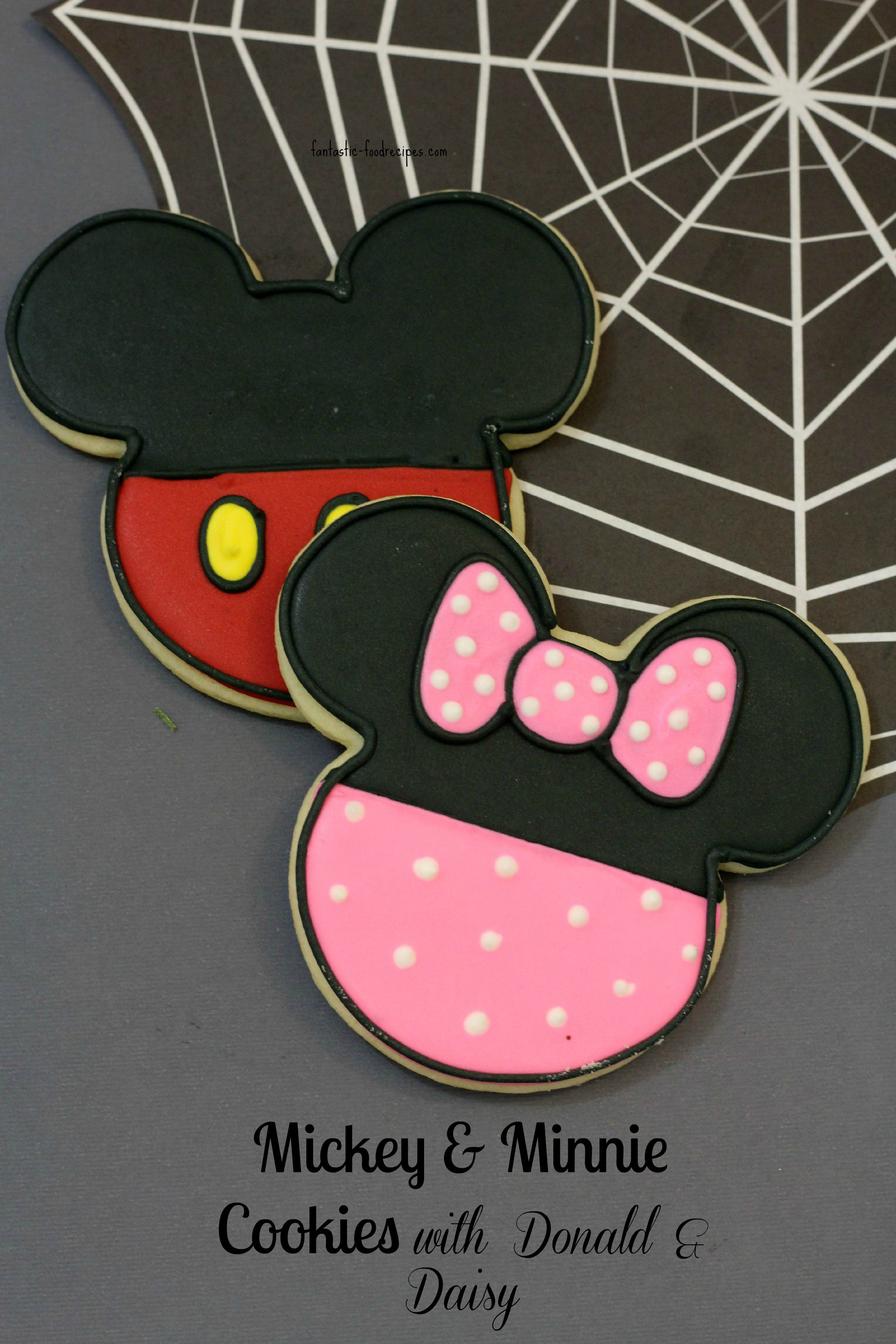 Mickey Amp Minnie With Donald Amp Daisy Cookies
