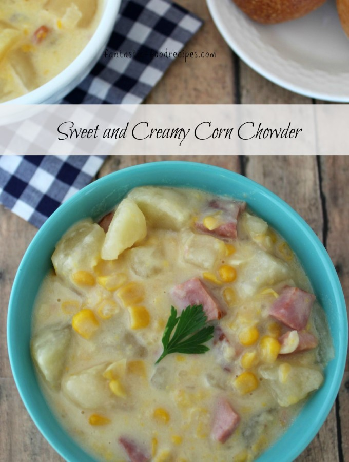Sweet & Creamy Crockpot Corn Chowder