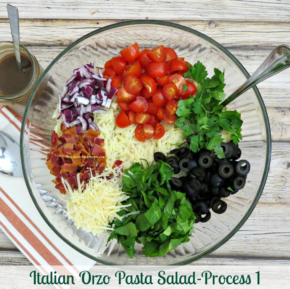 Italian Orzo Pasta Salad-Process 1