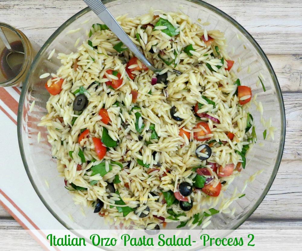 Italian Orzo Pasta Salad-Process 2