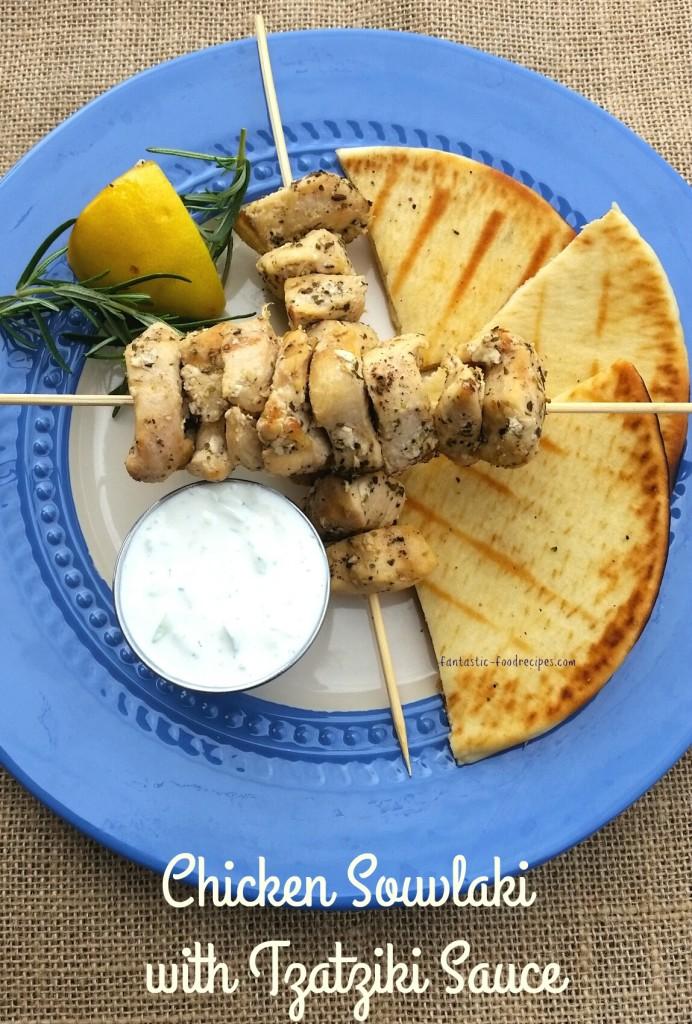Chicken Souvlaki with Tzatziki Sauce- 4