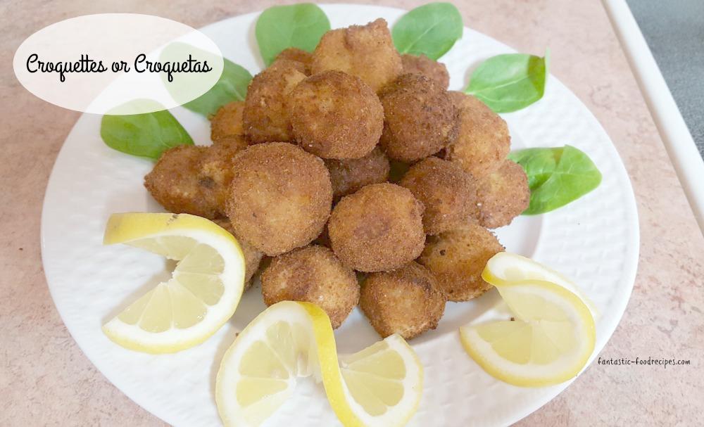Croquettes or Croquetas