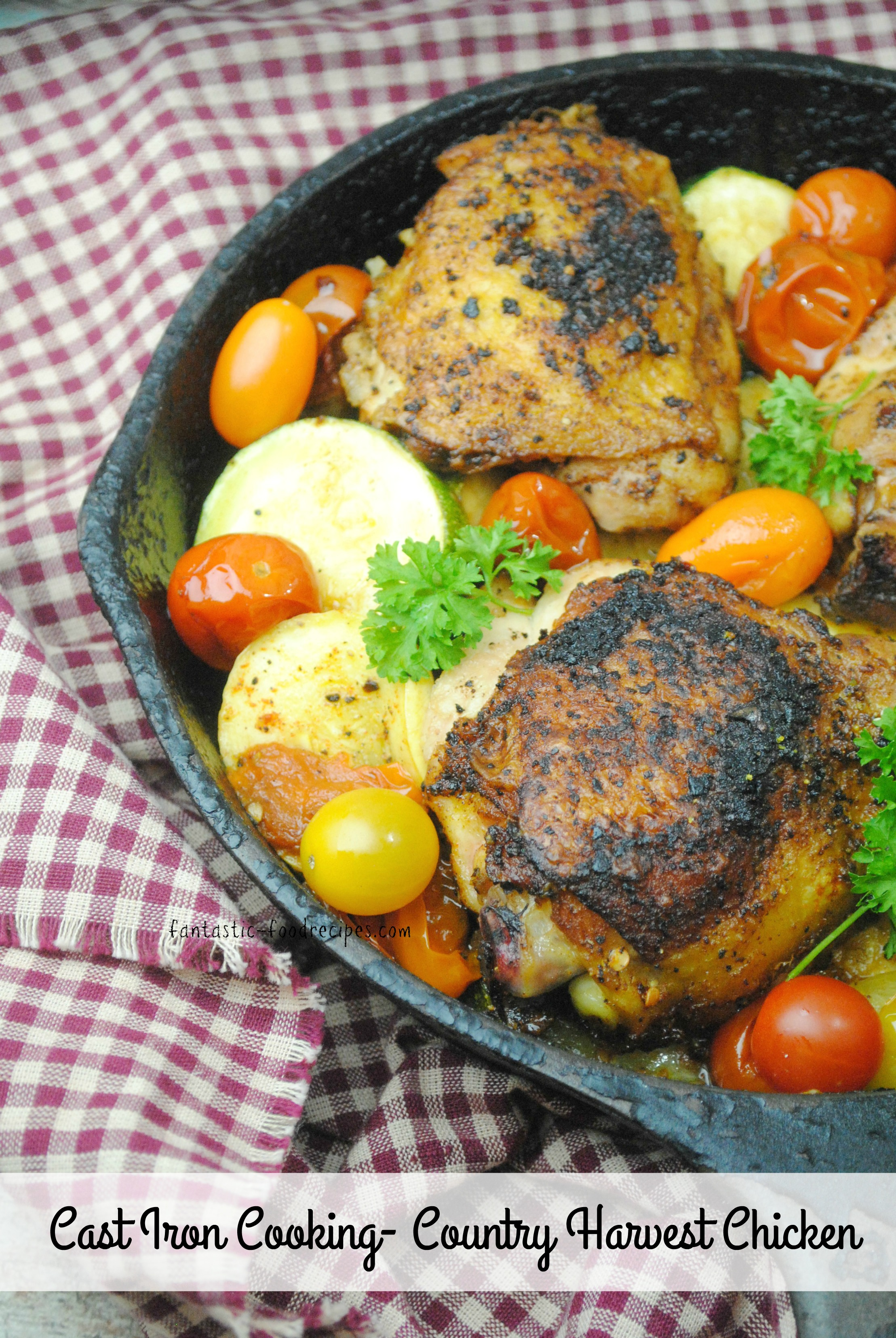 Cast Iron Cooking Country Harvest Chicken