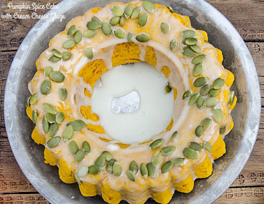 Pumpkin Spice Cake with Cream Cheese Glaze-Final