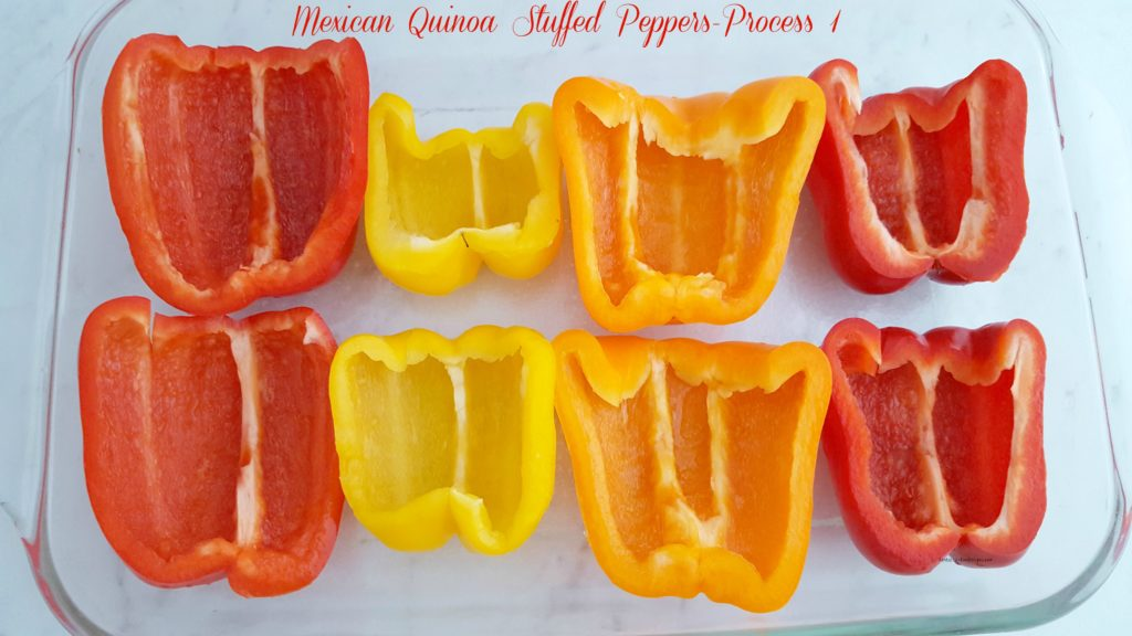 Mexican Quinoa Stuffed Peppers- Process 1