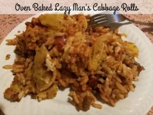 Oven Baked Lazy Man's Cabbage Rolls 3